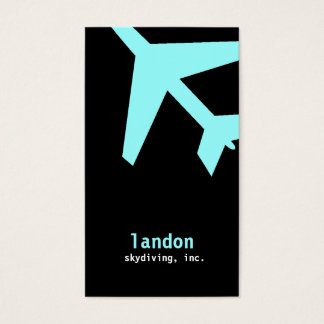 GC | AVIATION TAKE OFF BLUE BUSINESS CARD
