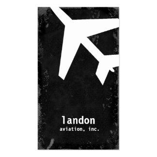 GC AVIATION TAKE OFF WHITE BUSINESS CARD TEMPLATE