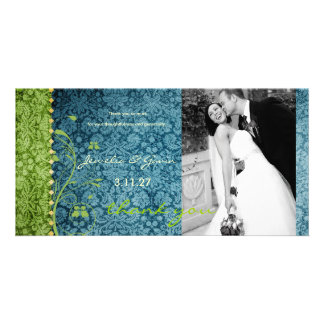 GC | Bejeweled Turquoise & Green Thank You Card
