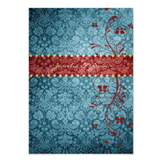 GC | Bejeweled Turquoise & Red Card