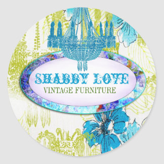 GC Blue Lime Shabby Love Sticker