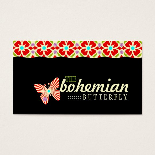 GC Bohemian Butterfly Business Card
