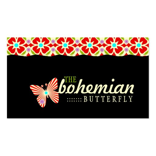 GC | Bohemian Butterfly Business Card Template