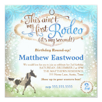 GC Boy This Ain't My First Rodeo 2nd Birthday Card