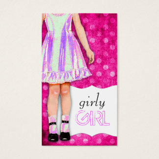 GC | Girly Girl Doll Funky Purple Business Card