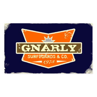GC | Gnarly Navy | Orange Pack Of Standard Business Cards