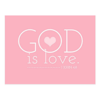 GC God is Love Valentine Postcard