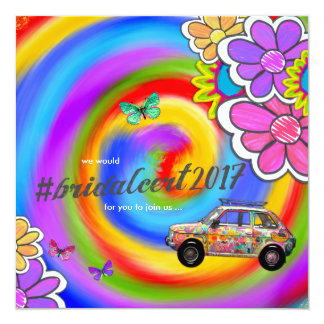 GC Hippy Tie Dye Invite Bridal Cert