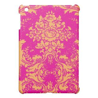 GC iPad Vintage Damask Pink Orange Case For The iPad Mini