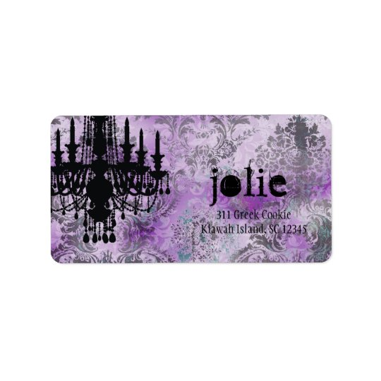 GC | Jolie Chandelier Purple Grey Damask