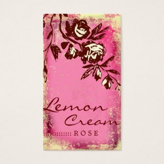 GC Lemon Cream Rose Business Card