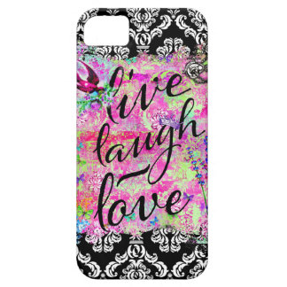 GC Live Laugh Love Vintage Scene Damask Case For The iPhone 5
