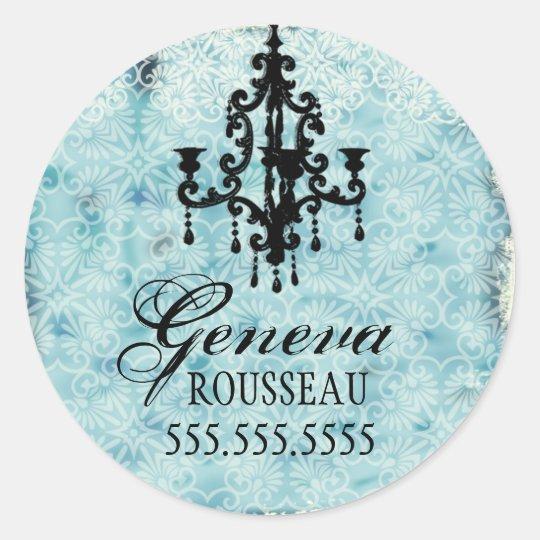 GC  Lustre Passione Vintage Chandelier Gris Classic Round Sticker