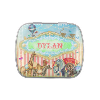 GC Magical Join the Circus Vintage Candy Tin Blue