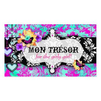GC Mon Trésor Turquoise Pink Business Card Templates