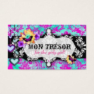 GC | Mon Trésor Turquoise Pink Business Card