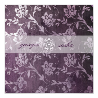 GC Passionately Purple Floral Vintage Card
