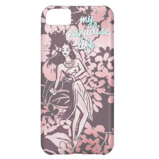 GC Pink & Aqua My Paradise Life Hawaiian Hula Cover For iPhone 5C