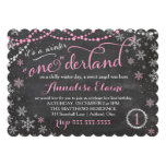 GC Pink Winter ONEderland Birthday Invitation