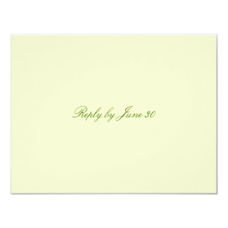 GC | Plain Cream RSVP Card