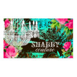 GC Shabby Aqua Garden Chandelier Business Cards