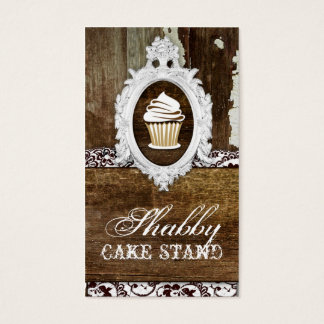 GC Shabby Cake Stand Baroque Frame Business Card