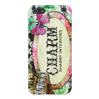 GC Shabby Charm Interiors Black Damask Case For The iPhone 5