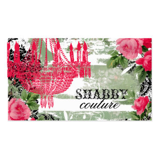 GC Shabby Garden Chandelier Business Card Templates