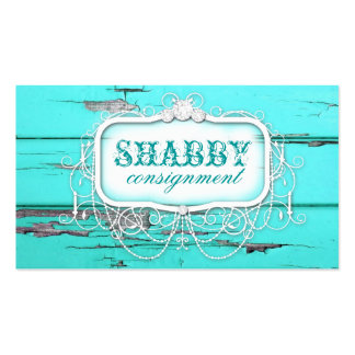 GC Shabby Vintage Aqua Wood Pack Of Standard Business Cards