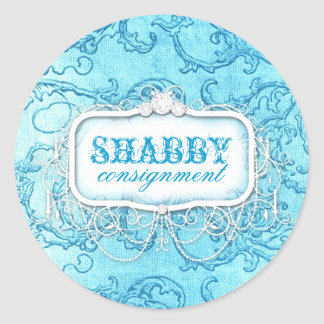 GC Shabby Vintage Blue Swirl Sticker