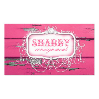 GC Shabby Vintage Pink Wood Business Card Templates