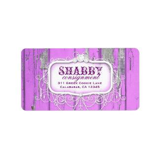 GC Shabby Vintage Purple Label