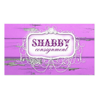 GC Shabby Vintage Purple Wood Double-Sided Standard Business Cards (Pack Of 100)