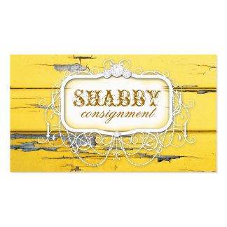 GC Shabby Vintage Yellow Wood Pack Of Standard Business Cards