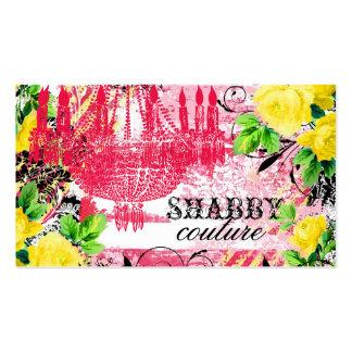 GC Shabby Yellow Rose Garden Chandelier Business Card