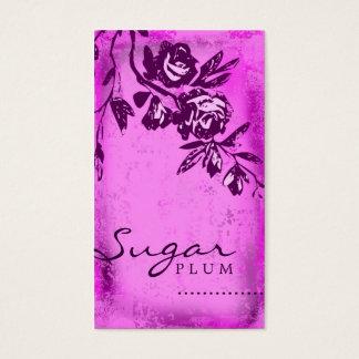 GC   Sugar Plum Rose Business Card