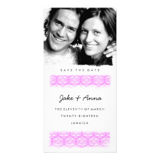 GC | Sweet Pink Print Save the Date Photo Card Template