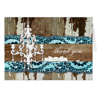 GC | Trash to Treasure Aqua Blue Thank You Card