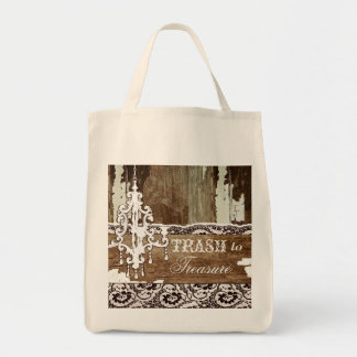 GC | Trash to Treasure Canvas Grocery Tote Bag