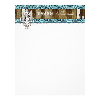GC Trash to Treasure Chandelier Aqua Blue Letterhead