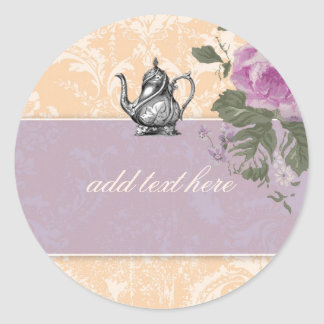 GC Vintage Bridal Shower Tea Party Stickers