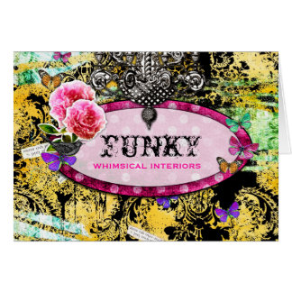 GC | Whimsical Vintage Pink Bee Card