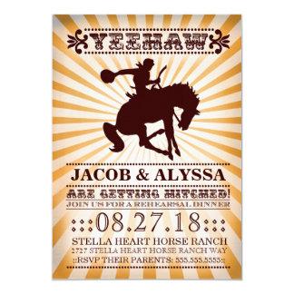GC Yeehaw Rowdy Rodeo Rehearsal Orange Card