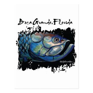GCG Boca Grande Blue Tarpon Head Postcard
