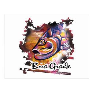 GCG Boca Grande Pink Tarpon Head Postcard