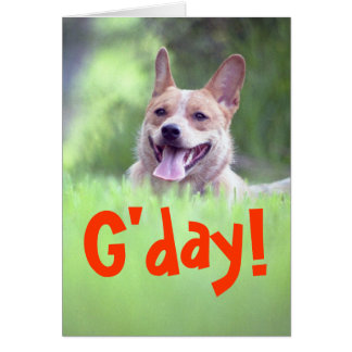 """""""G'day!""""  Greeting Card"""