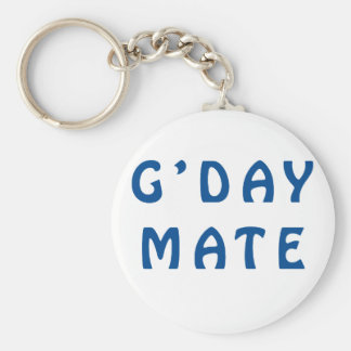 Gday Mate Blue Keychain