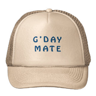 Gday Mate Blue Trucker Hat