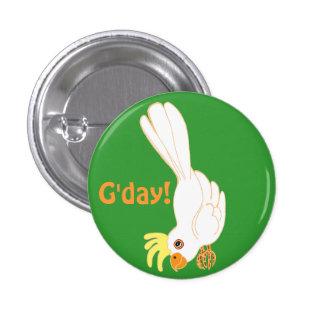 G'day says Aussie galah 1 Inch Round Button