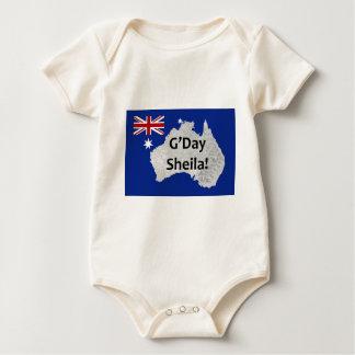 G'Day Sheila Australian Logo Infant's Creeper